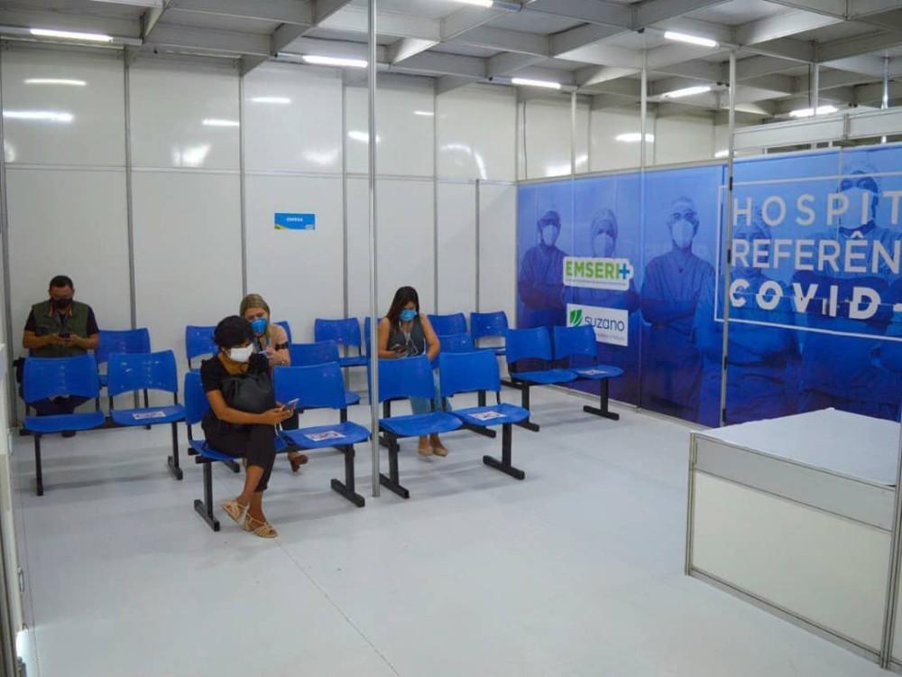 Hospital de Campanha no Centro de Convenções começou a funcionar nesta terça-feira 09